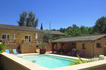 2km Sarlat,Piscine, Wifi, TV, 2pers au calme - Bed & Breakfast