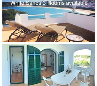 White Sands 3 Rooms in front the beach with pool - Arenal d'en Castell - Lejlighed