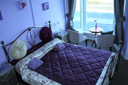 En-suite double room king-size bed - Swansea