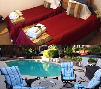 Private Room with 2 beds - Big Pool Patio & HotTub - Duncanville