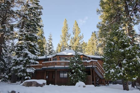Our cabin is just a block off the lake and walking distance to Homewood Mountain.  There are 5 bedrooms and 2.5 baths and it comfortably sleeps 11.  It features a huge great room next to the kitchen, it's the perfect place for a relaxing family trip.