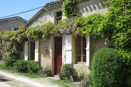 Large stone cottage + pool & garden LE TILLEUL - Larressingle - House