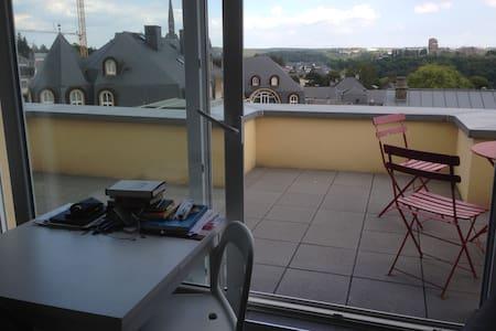 studio/penthouse  avec grande terrasse /belle vue - Apartamento