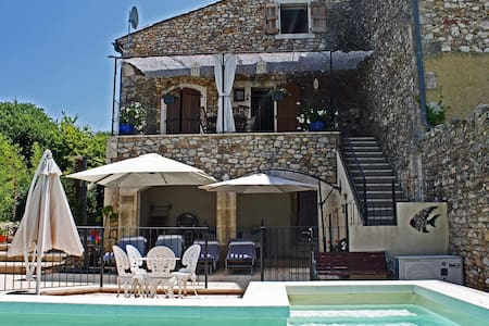 Character Cottage with Private Heated Pool - Allègre-les-Fumades - House