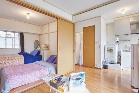 ⑥CENTERofTOKYO/GINZA Walk/SHINJUKU20min/wifi/3F - Chuo-ku - Apartemen