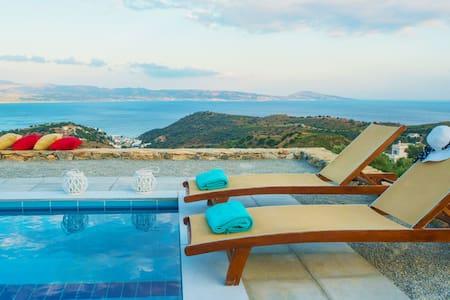 Evgoro Villa Thalassa, unique sea views! - Rethimnon - Villa