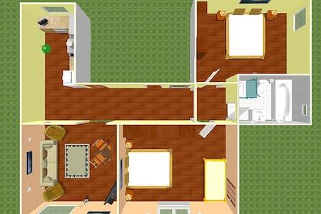 Apartman se 2 loznicemi - Loft