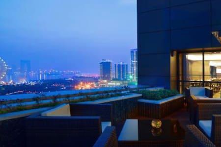 金鸡湖边 五星级套房 泳池 健身房 豪华早餐 - Appartement