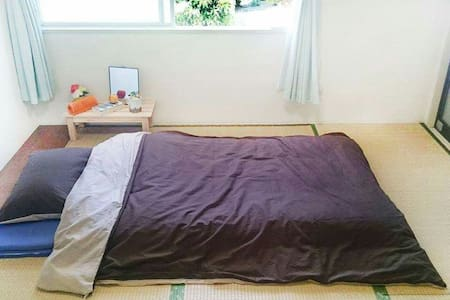 Quiet Private Tatami Room 5min to Station Incl A/C - Apartment