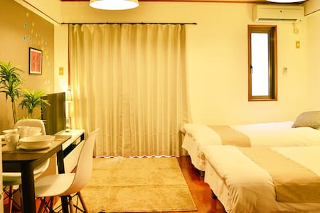 Naha Central 2PAX Kokusai-Dori 5 mins Free WiFi11X - Apartment