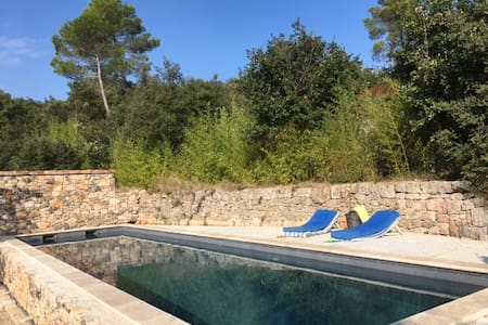 Luxury stone cottage, heated private pool, AC - Entrecasteaux