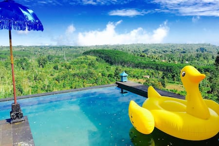 Hidden Waterfall cottage with pool and views Bali - Sukasada - Bungalow