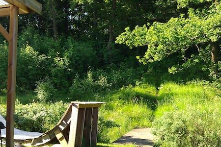 Två skogsnära rum med uteplats. - House