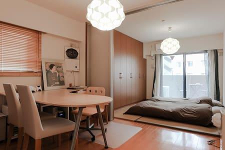 KYT KarasumaOike: APT 36sqm2bike&wifi - Kyoto - Apartment