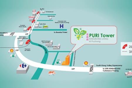 Safe and quiet condo for your city getaway - Puchong - Kondominium