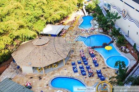 Flat no Golden Dolphin Grand Hotel - Caldas Novas - Condominium