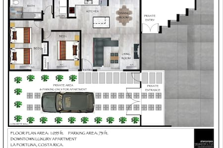 Downtown Luxury Apartment - La Fortuna - Apartamento