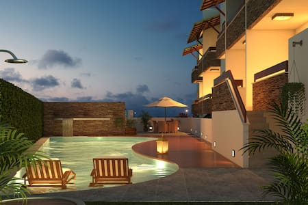 Pipa Centro Residence, Best Location, Ocean View 1 - Pipa Beach - Apartment