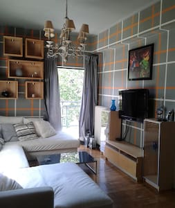 Comfy flat in Athens 1 min walk from train station - Daire