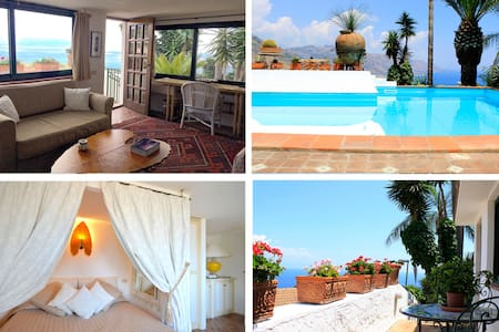 PANORAMIC SUITE  with pool & view in Taormina - Wohnung