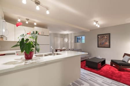 Modern, central, private 2 bedroom suite - North Vancouver