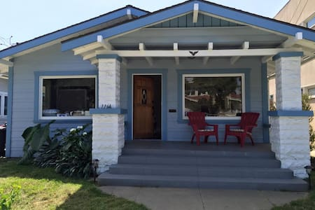 Cozy room in walkable Alamitos Beach Craftsman - Long Beach - House