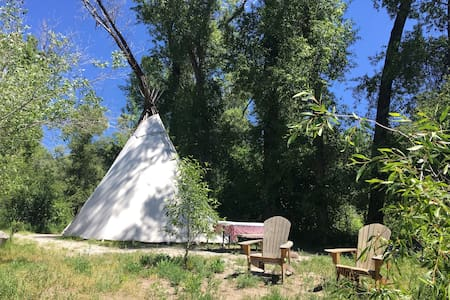 Teton Tepee on Snake River - Irwin