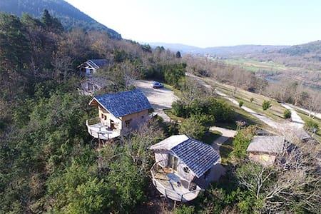 CabaneLa Chênaie de 23m2 avec terrasse panoramique - Serrières-sur-Ain
