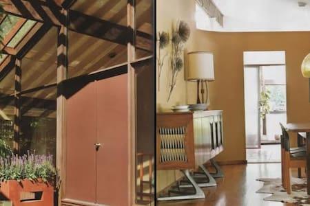 Bedroom in Designer Mid-Century Modern Home - Flat