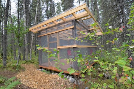 Camping Huts-Lake Clark, Alaska - Port Alsworth - Capanna