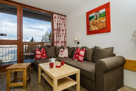 Super cosy in front of Mont Blanc, Les Arcs - Appartement