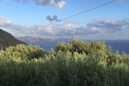 Sicily, Aeolian Islands, Salina. - Leni - Haus