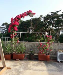 OPEN/경포대 게스트하우스(4~6인실)/호수 옆/바다 도보 7분/옥상 바베큐/ - Gyeongpo-ro 463beonan-gil, Gangneung-si - Casa