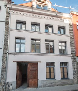 White appartment renovated with old stones - Tournai