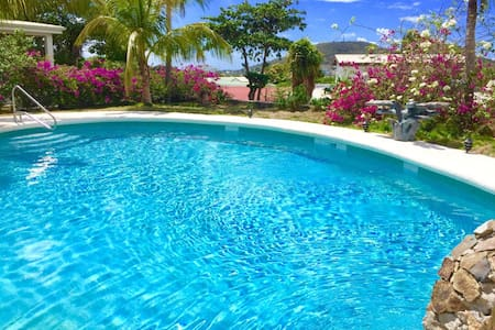 Quiet spacious apartment (200 sq meters) with 3 bedrooms, garden and pool located on the island of Sint Maarten which is composed by 32 gorgeous beaches. This fully-equipped apartment located a few minutes from all amenities, beaches and airport.