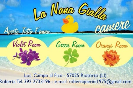 La Nana Gialla (Orange Room) - Province of Livorno