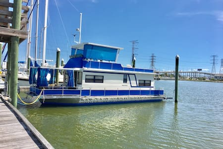 Cozy Houseboat overlooking KEMAH TX - Seabrook - Boot