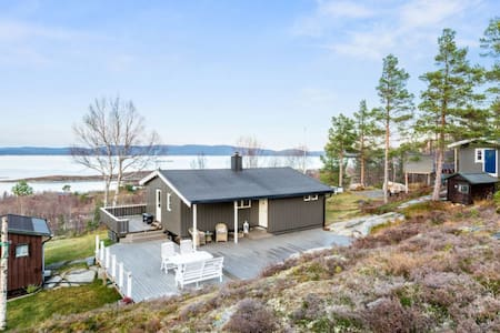 Cabin by the sea with a spectacular view - Hemne - Cabin
