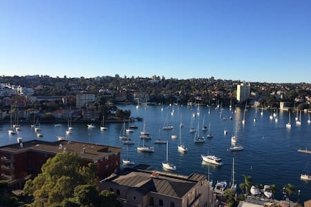 Bright apartment with beautiful harbour views - Kirribilli
