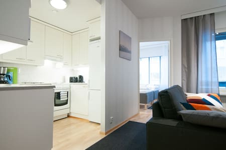City apartment with bedroom, terrace and sauna - Apartament