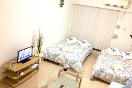 Dotonbori 5 min!Best location 難波、心斎橋、USJ - Lejlighed