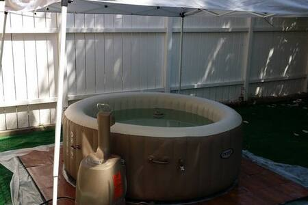 Your yard with Jacuzzi home