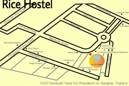 Hi Rice Hostel @Khaosan Room 4 - Appartement