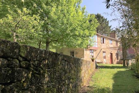 Casa con piscina, pista badminton y vistas al mar - A Silva - Casa