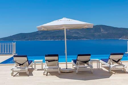 Appartamento lussuoso con piscina e vista mare - Kalkan