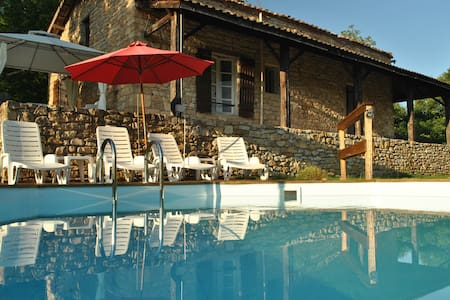 Beautiful stone cottage with a swimming pool - Saint-Front-sur-Lémance