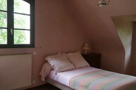 Chambre rose vue jardin Ploeren - Haus