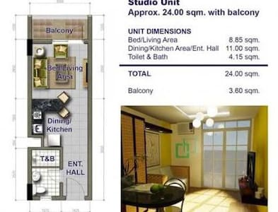 1 BR Unit at Palmetto Place - Davao City - Lyxvåning