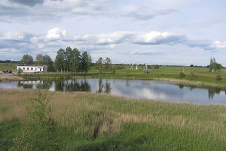 Изборск: Гостевой дом с озером и рыбой (Комната 1) - Gæstehus