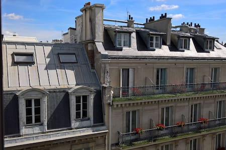 Jolie chambre au 6e étage d'un bel immeuble - Appartement